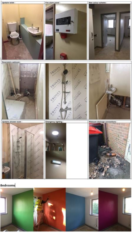 Update on doctors' houses refurbishment at the Princess Royal Hospital
